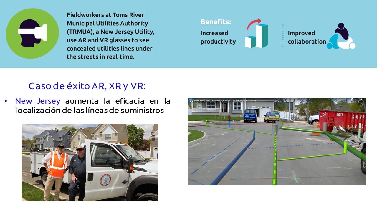 Caso de éxito AR, XR y VR: New Jersey aumenta la eficacia en la localización de las líneas de suministros